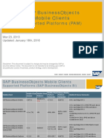 SAP BusinessObjects Mobile Clients Supported Platforms (PAM)