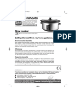 Morphy Richards Slow Cooker Manual