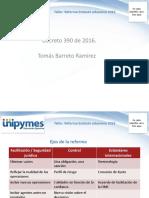 Sesión 1 Alcance Del Decreto 390 de 2016