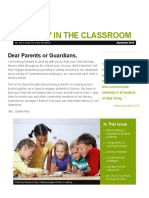 putting it all together newsletter to parents