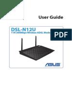 E7218 DSL N12U B1 Manual English