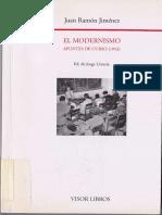 El Modernismo Apuntes de Un Curso 1953 - Juan Ramón Jiménez