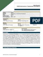 Guía docente Intervención y Tratamiento Universitat de València