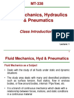 MT338 Chap1 Intro to Fluid Mechanics