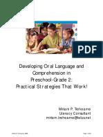 rdg 350 - oral language in prek - grade 2