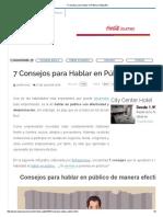 7 Consejos Para Hablar en Público (Infografía)