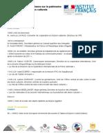 141106 Le Patrimoine Et La Protection Des Biens Culturels Programme Fr
