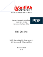 7400DOH Unit 3 Outline Oral and Maxillo-Facial Surgery 2015 - Updated Semester 2