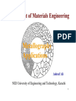Metallographic Characterisation Techniquess Method