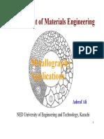 Metallographic Characterisation Techniquess Method