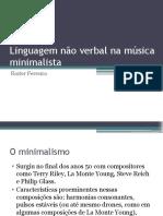 Linguagem Não Verbal Na Música Minimalista