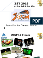 ZEST 2016 - Intra Rules