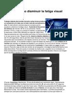 Monitor Como Disminuir La Fatiga Visual 1598 k92bo9