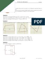 Fiche de révisions de géometrie - 5e