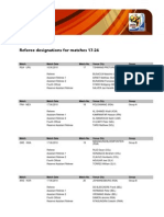 Referee Designations Matches 17-24