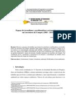 Espaço do jornalismo e problemáticas socioambientais  em encontros da Compós (2003 - 2013)