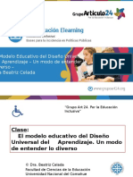 Power Point Clase El Modelo Educativo Del DIseño Universal Del Aprendizaje