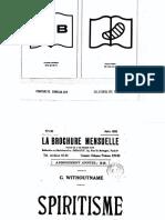 Brochure Mensuelle Spiritisme - G Wthoutname 1933