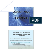 Sedimentacija u Centrifugi