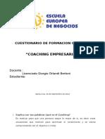Cuestionario Coaching Empresarial