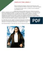 Biografía de Túpac Amaru II