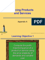 Appendix a - Pricing Products and Services