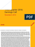 Kodak's third quarter earnings release