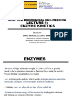 Lecture 1 - Enzyme & Kinetics