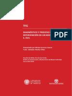 Diagnostico Yproceso de Intervención de Un Manuscrito Del s . Xvii