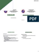 Absorción Farmacologia