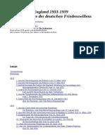 Deutschland England Dokumente Des Deutschen Friedenswillens-Berber-170s