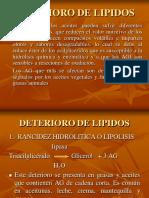 Deterioro de Lipidos