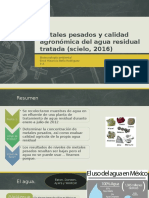 Metales Pesados y Calidad Agronómica Del Agua Residual 1.00