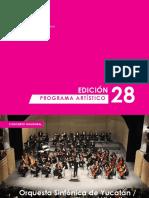 Programa Festival de Música de Morelia 2016
