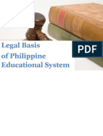 Legal Basis of Philippine Educational System
