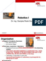 Robotics Lecture Part 1