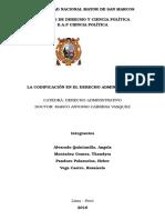 La Codificaciòn Del Derecho Administrativo