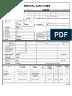 CS FORM 212 - PDS