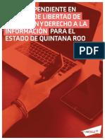 Pendientes sobre libertad de expresión y derecho a la información en Quintana Roo