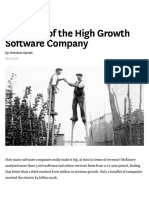 The Myth of the High Growth Software Company