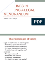 Guidelines in Drafting Legal Memo
