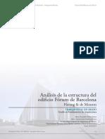 Análisis de La Estructura Del Edificio Fórum de Barcelona (Herzog - De Meuron)