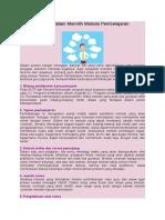 6 Pertimbangan Dalam Memilih Metode Pembelajaran