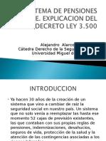 El Sistema de Pensiones en Chile