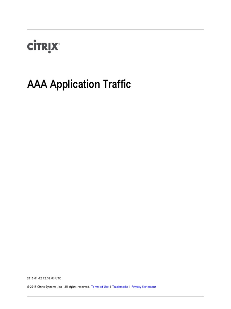 NetScaler 10 5 AAA Application Traffic | Hypertext Transfer