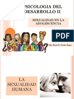 Desarrollo Sexual en La Adolescencia