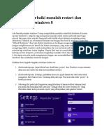 Cara Memperbaiki Masalah Restart Dan Shutdown Di Windows 8