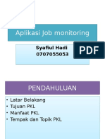 Aplikasi Job Monitoring