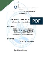Informe Arq. en EI Perú