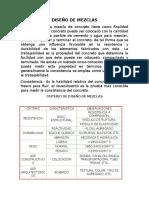 Diseño de Mezclas (Proceso)
